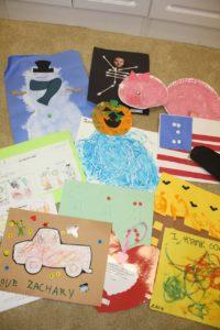 Decluttering Challenge – Day 12 – Kid's Artwork